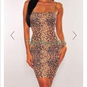 Hot Miami styles cheetah print dress